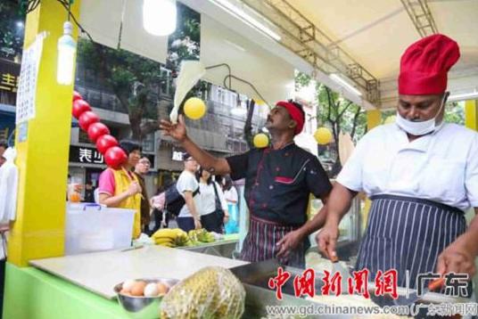 """广州首届东南亚风味美食节""""色香味""""飘溢北京路"""