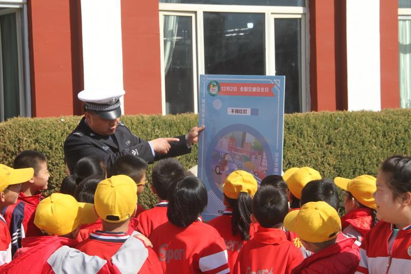 全国中小学生安全教育日 山西大同浑源交警进校园话安全