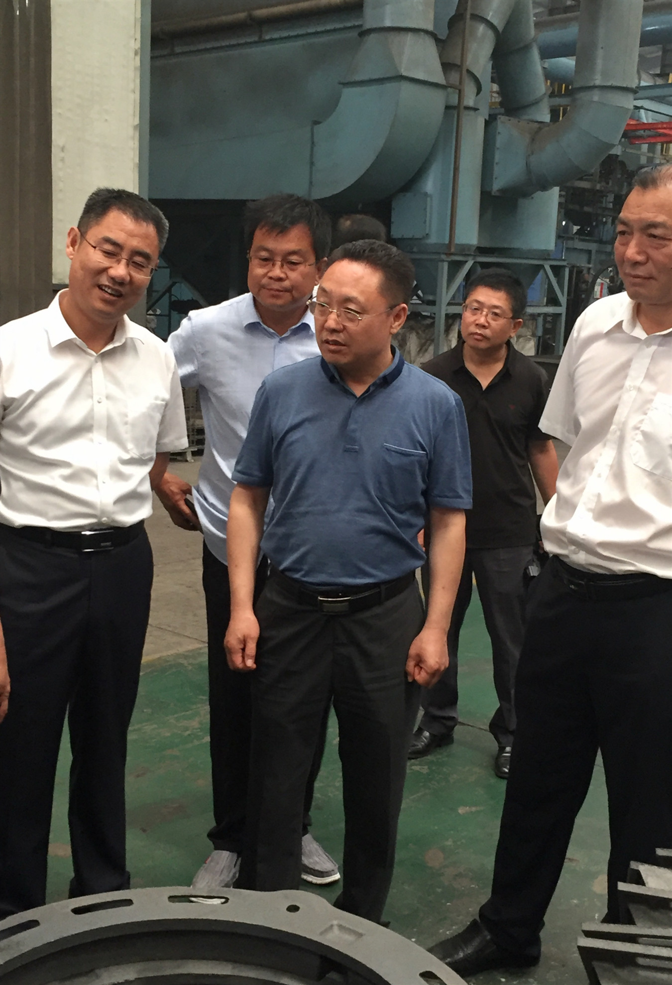 山西岚县县长乔云赴河北邯郸考察招商铸造产业