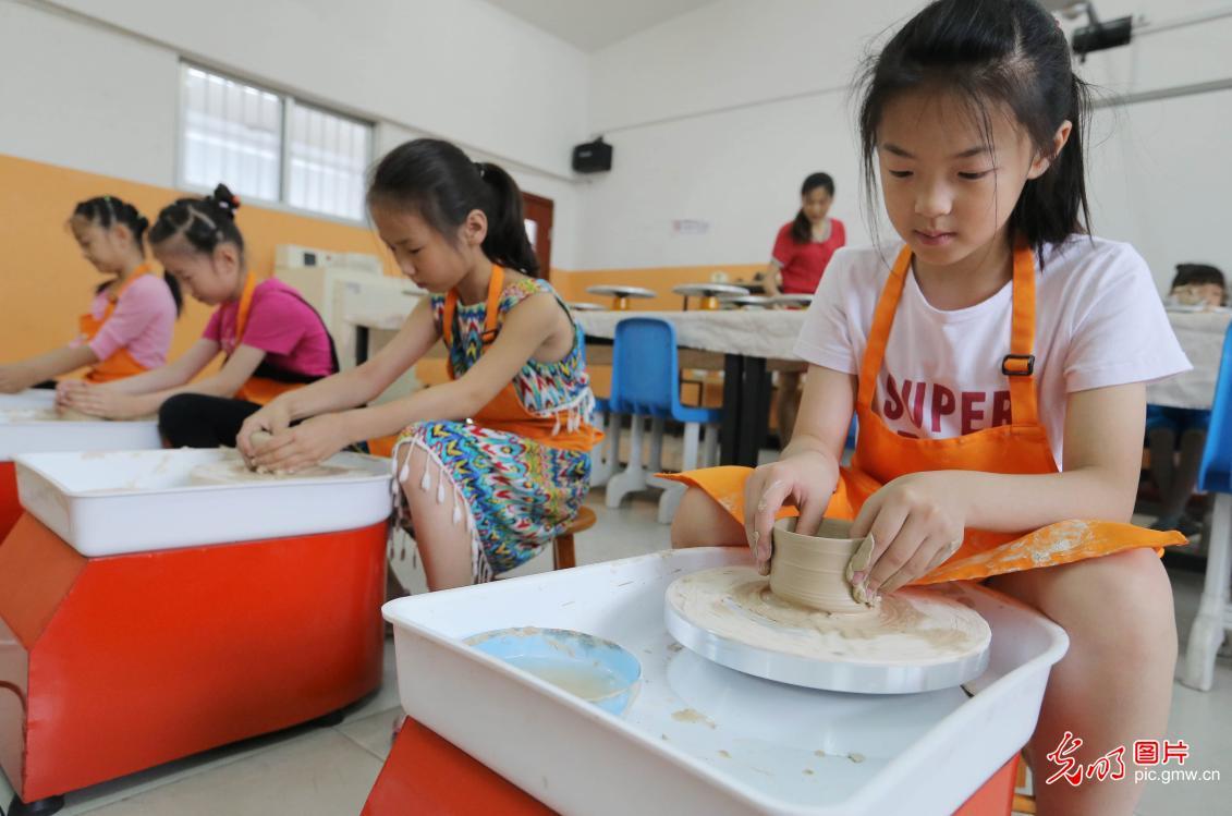 开心学陶艺 快乐度暑假