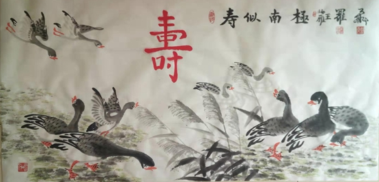 重阳节,厚德载物文化教育中心为社区居民送祝福
