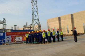中建钢构乌东德送变电柳北换流站项目开展消防安全应急演练